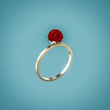 ring with ruby - 68490727