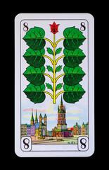 Spielkarten und Denkmäler  - Grün Acht -  Halle a.d.Saale