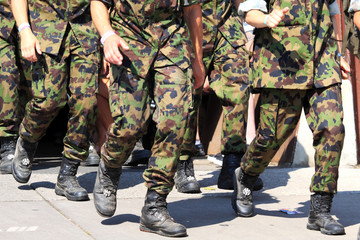 Army running with walking event