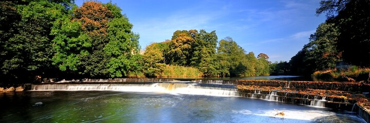 Fall on the River Weir