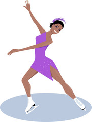 Female figure skater
