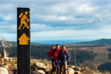 Sign with hiking Wicklow Ireland