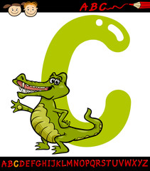letter c for crocodile cartoon illustration