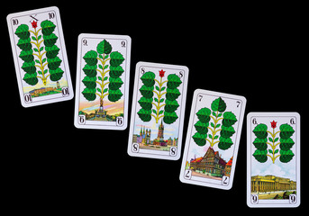 Spielkarten Denkmäler Deutschland - Grün
