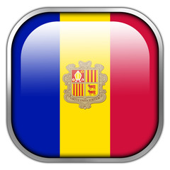 Andorra Flag square glossy button