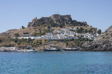 the white village of Lindos, Rhodes Island