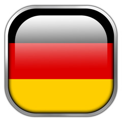 Germany Flag square glossy button