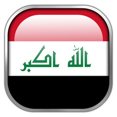 Iraq Flag square glossy button