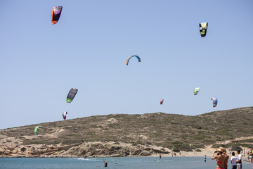 Kitesurfing Performance in Prasonisi, Rhodes