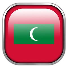 Maldives Flag square glossy button