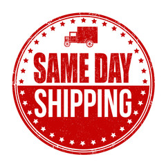 Same day shipping stamp