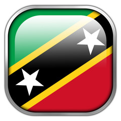 Saint Kitts and Nevis Flag square glossy button