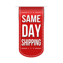 Same day shipping banner design
