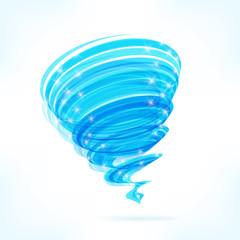 Blue vector tornado
