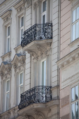 View of a local balcony Vienna