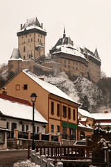 Karlstejn in winter, Czech Republic