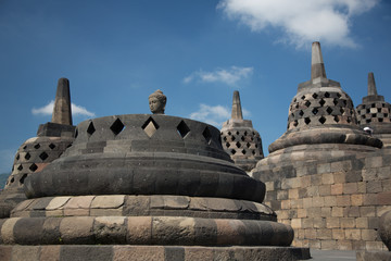 Borobodur stupas near to Jogyakarta, Java island, Indonesia