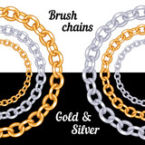 Set of chains metal brushes - gold and silver. - 68499735