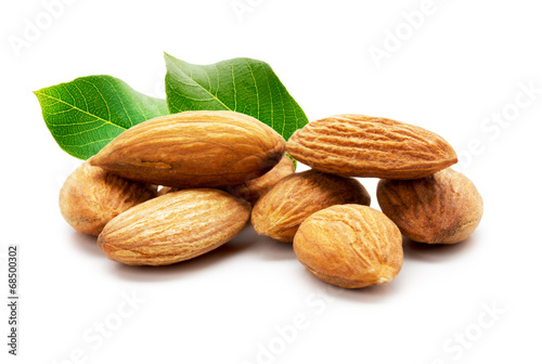 almonds isolated on the white background - 68500302
