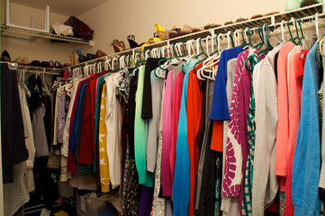 inside a woman's closet