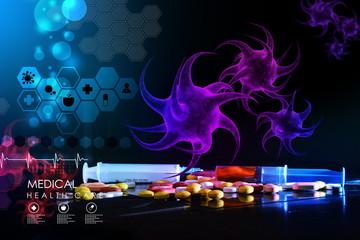 3d rendering of a virus