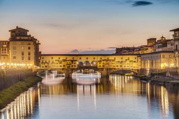 The Ponte Vecchio (Old Bridge) in Florence, Italy.