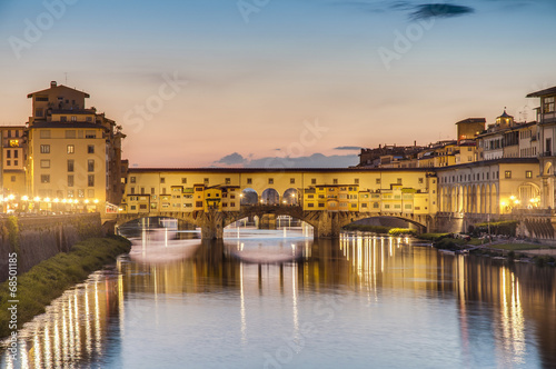 Foto op Canvas Praag The Ponte Vecchio (Old Bridge) in Florence, Italy.