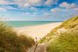 canvas print picture - Weg zum Strand