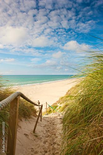Foto op Canvas Noord Europa Weg zum Strand