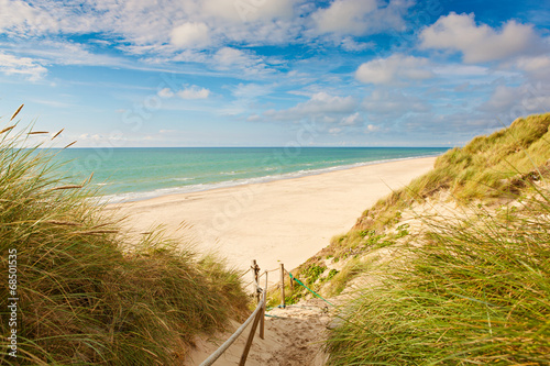canvas print picture Weg zum Strand