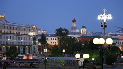 Theatre Square(Teatralnaya Square) near the Bolshoi Theatre