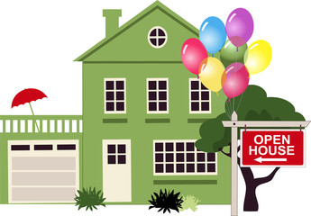 Open house icon EPS 8 no transparencies