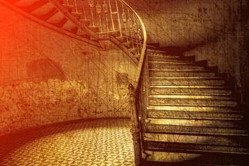 Klasyczne schody w stylu retro