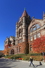 University of Toronto, Victoria College, colorful fall ivy