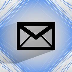 mail. envelope. Flat modern web design on a flat geometric