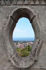 Aci San Filippo, panorama balaustra Eremo di Sant'anna