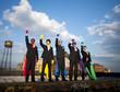 Multi-ethnic Superhero Businessmen