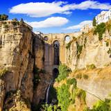 Bridge of Ronda, white village in Malaga,Andalucia,Spain
