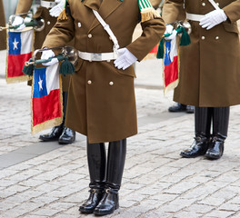 Changing of the Guard in Santiago, Chile