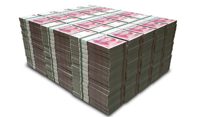 Yuan Notes Stacked Pile
