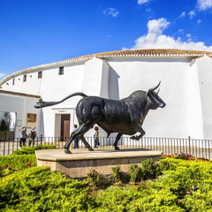 Spains oldest bullring built in 1785, Ronda, Malaga Province