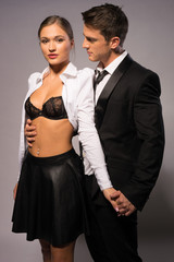 Young Couple in Fashion Corporate Attire Portrait