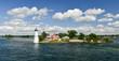 Leinwanddruck Bild - House on the Thousand Islands