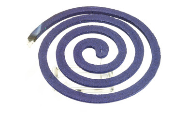 Burning mosquito coil.
