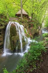 Bigar Cascade Falls in Beusnita Gorges National Park, Romania