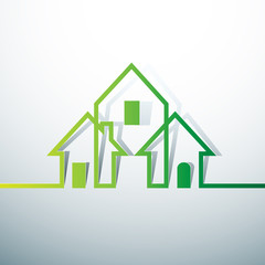 Eco house Real Estate icon. Vector design