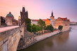 Charles Bridge in Prague, Czech Republic.