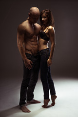Very Hot Couple on Sexy Blue Jeans