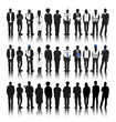 Silhouettes of People with Various Occupations
