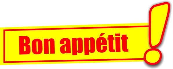 étiquette bon appétit